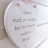 Large Shabby Chic Heart With Own Wording